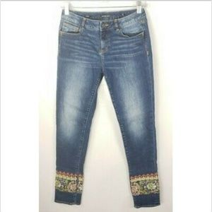 Miss Me Ankle Skinny Jeans Girls 16 Embroidered